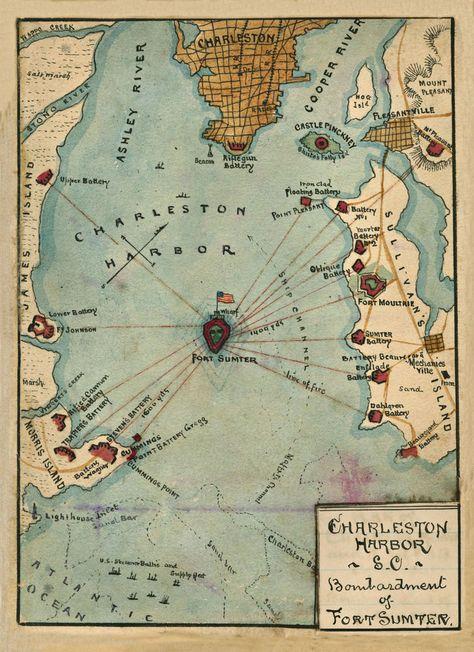 1861 Charleston Harbor South Carolina Fort Sumter Civil War 20