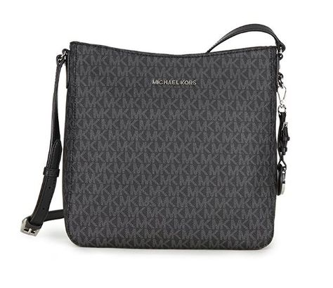 db90357e94f9 MICHAEL Michael Kors Jet Set Travel Large Logo Messenger (Black ...