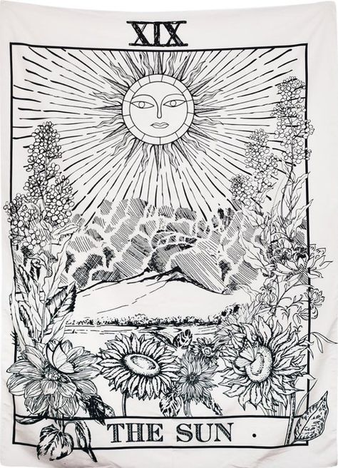Made of micro-fiber peach, this tapestry is durable and high quality featuring the sun zodiac symbology as found on medieval tarot cards