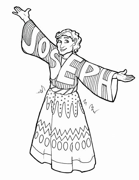 28 Joseph And The Coat Of Many Colors Coloring Page In 2020