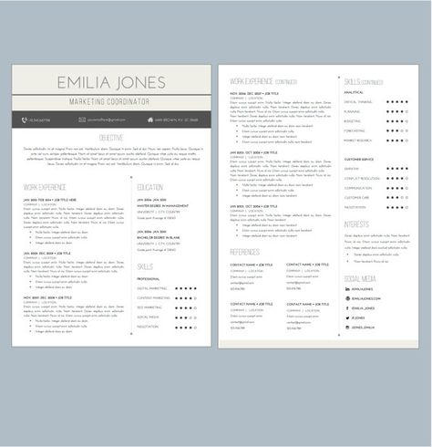 Hexagonal Resume + Cover Letter Word Template (Landscape Format - medical assistant resume template free