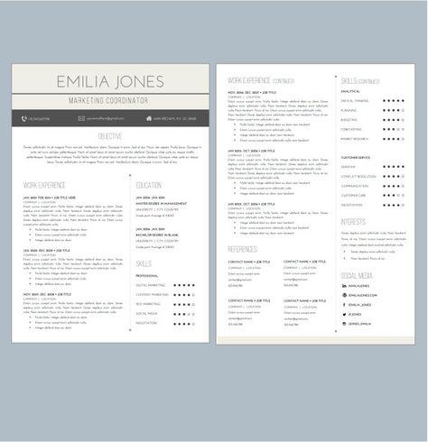 Hexagonal Resume + Cover Letter Word Template (Landscape Format