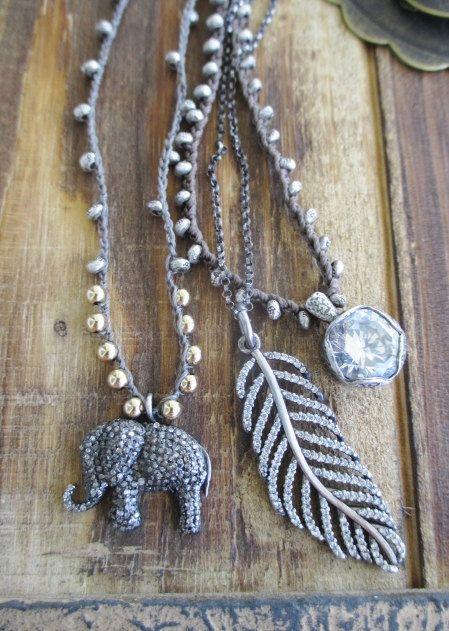 Crochet collana in argento SpotLight organico di slashKnots