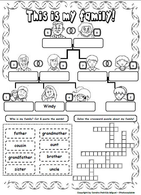 This Is My Family 2 Family Worksheet English Lessons English Activities