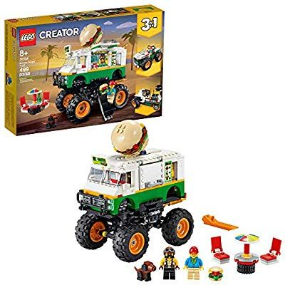 Amazon Com Lego Creator 3in1 Monster Burger Truck 31104 Building Kit Cool Buildable Toy For Kids New 2020 499 Pieces In 2020 Lego Creator Lego Shop Lego