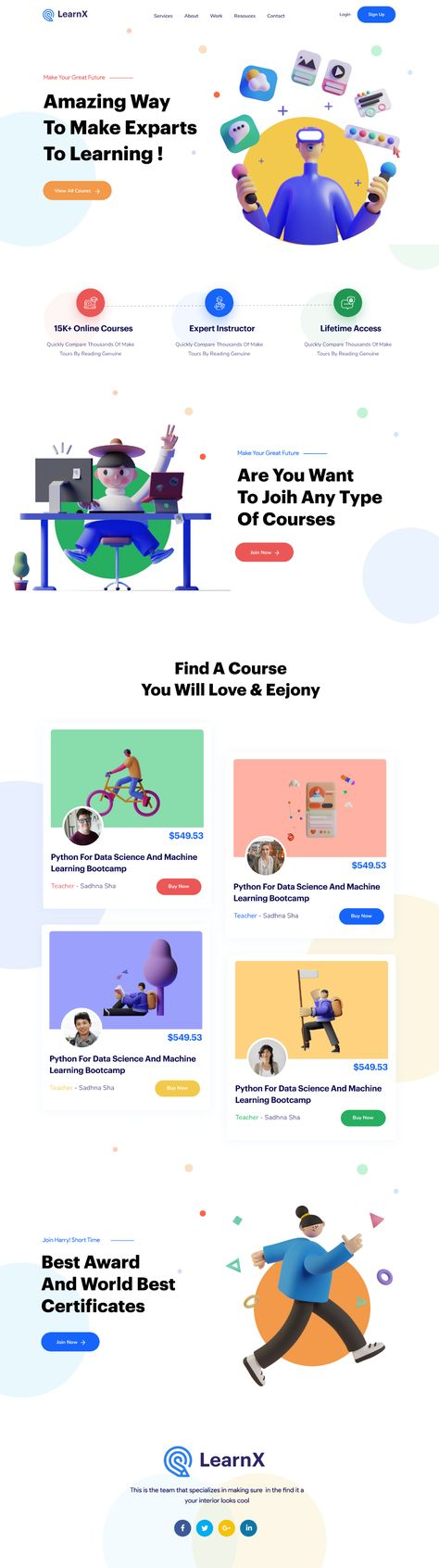LearnX E Learning Landing Page.png by CreativePeoples