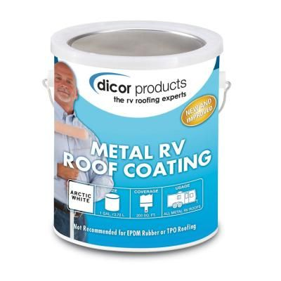 Dicor Elastomeric Coating Gallon Roof Coating Metal Roof Repair Metal Roof