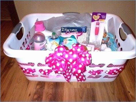 Cute Baby Shower Gift Basket Ideas For Girl With Images Baby