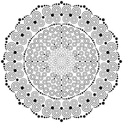 Dots Mandala M11 Thumbnail Mandala Coloring Pages Free Printable Coloring Pages Free Printable Coloring