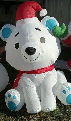 Baby Snowman Santa Polar Bear Inflatable Air Blown | eBay