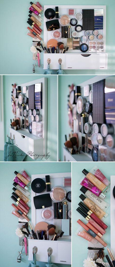 tableau magnétique petite salle de bain rangement