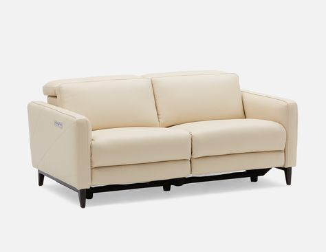 Superb Dimitri Power Reclining Leather Loveseat With Usb Port In Ocoug Best Dining Table And Chair Ideas Images Ocougorg