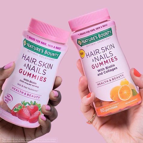 Natures Bounty Hair Skin And Nails Gummies With Biotin And