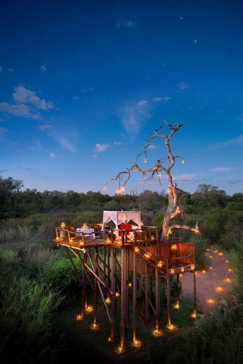 Tree Huts on the Lion Sands Game Reserve in South Africa ❤ Reiseausrüstung mit Charakter gibt's auf vamadu.de