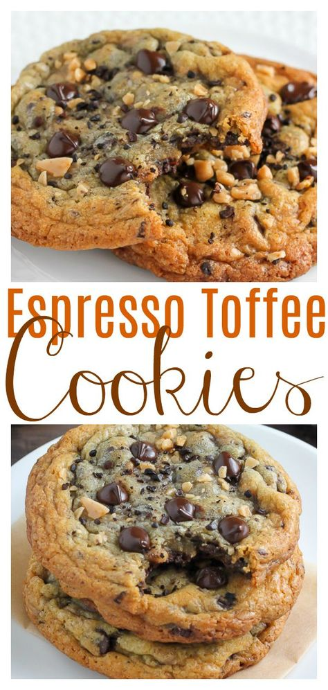 Chocolate Toffee, Chocolate Chip Cookies, Chocolate Chips, Chocolate Covered Espresso Beans, Yummy Cookies, Yummy Treats, Sweet Treats, Just Desserts, Delicious Desserts
