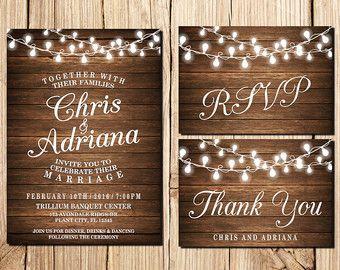 Rustic Wedding Invitation Country DIY Printable Wedding Invitations - Wedding invitation templates: rustic wedding invite template