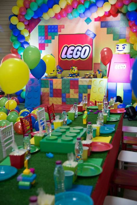 Colorful and fun Lego birthday party! See more party ideas