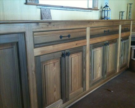 Sinker Cypress Cabinets,glorious Material To Work With.   My Daily Grind    Pinterest