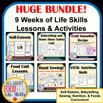 This Is A 9 Week Curriculum That Is Used In A Family And Consumer Sciences Facs Fcs Class There Is So M Life Skills Lessons Life Skills Life Skills Curriculum