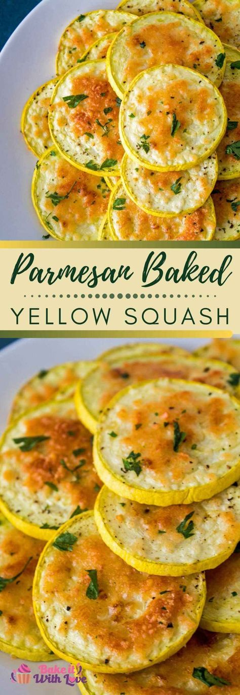 Baked Parmesan Yellow Squash @ Bake It With Love