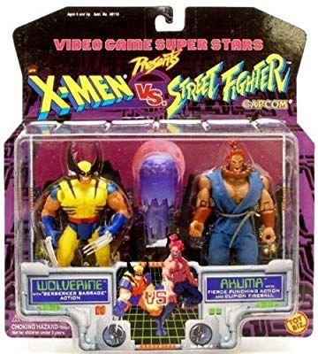 Video Game Super Stars Presents X Men Vs Street Fighter Capcom Wolverine Vs Akuma By X Men In 2020 Street Fighter Capcom Man Vs