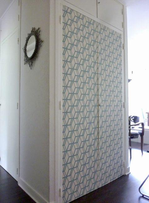 Placard mural  10 bons exemples de portes coulissantes, battantes - rail porte de placard