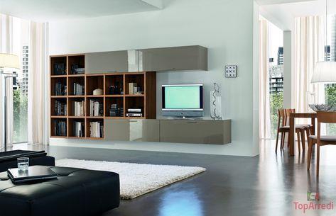 Libreria Moderna Per Soggiorno.Libreria A Parete Ikea Con Gallery Of Libreria Moderna Play Foto