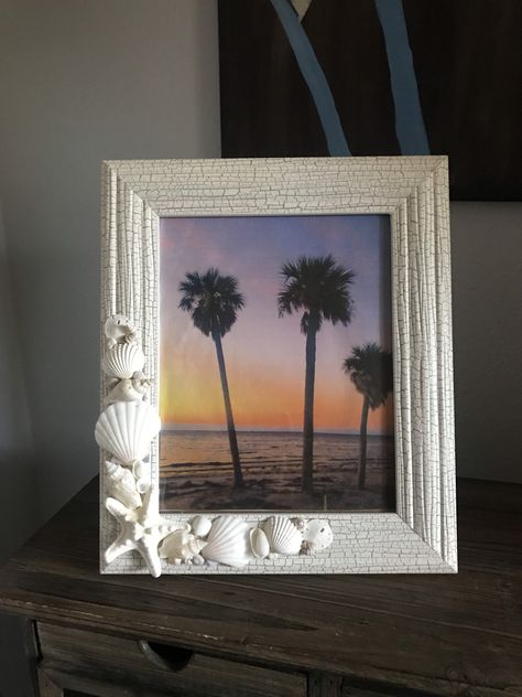 Excited to share the latest addition to my #etsy shop: 8x10 Beach Frame, Shell Frame, Picture Frame