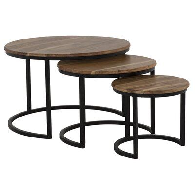 Foundry Select Beshears 3 Piece Nesting Tables In 2020 Wood Nesting Tables Nesting Tables Table
