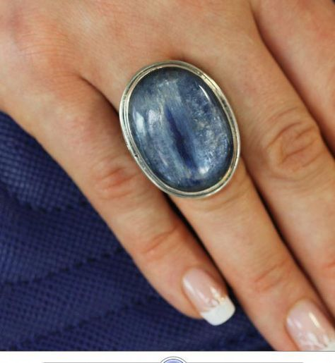Echo of the Dreamer Large Oval Kyanite Statement Ring