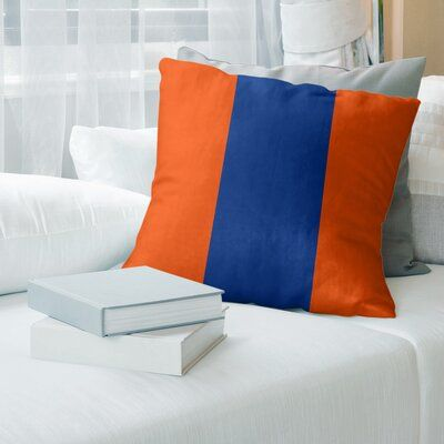 East Urban Home New York Nyc Hockey Striped Pillow Cover Striped Floor Pillows Suede Pillows Football Throw Pillow