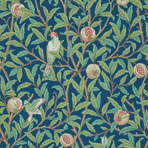 William Morris Birds & Pomegranate Wallpaper - 212540