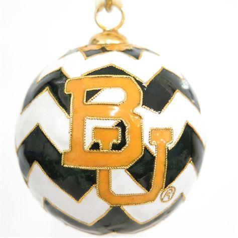 #Baylor University #Chevron Cloisonne Ornament
