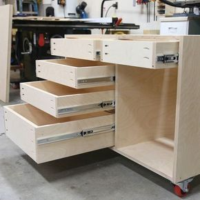 How To Build A Base Cabinet With Drawers Building Kitchen Cabinets Diy Kitchen Cabinets Installing Drawer Slides