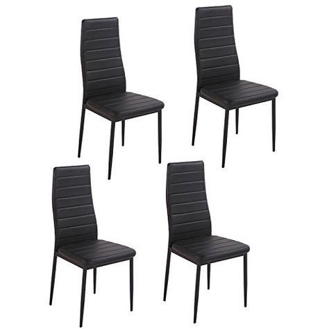 dining side chairs set of 4 elegant design high back pu leather rh pinterest com au