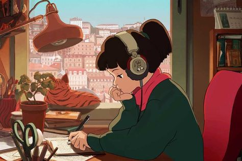 Lofi hip hop mix - Beats to Relax/Study to Hip Hop Radio, Studio Ghibli, Chica Hip Hop, Old School Art, Hip Hop Youtube, Free Youtube, Style Hip Hop, Hip Hop Girl, Music For Studying