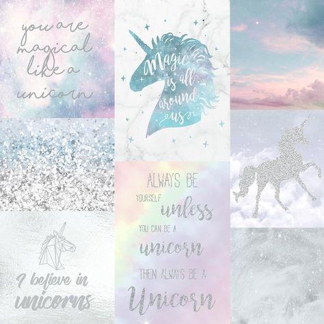 Arthouse Wallpaper Believe In Unicorns 698300 Unicorn Wallpaper Glitter Wallpaper Wallpaper Pink And Blue