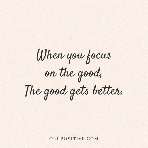 Inspirational // motivational // happiness // quotes about life // focus on the good