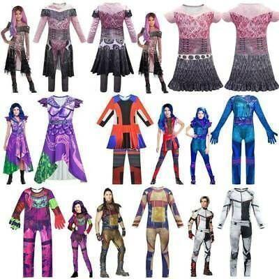Descendants 3 Audrey Mal Evie Costume Boy Girl Jumpsuit Wig Cosplay Fancy Dress