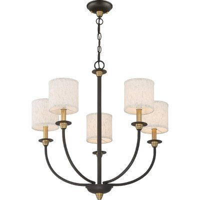 Charlton Home Knorr 5 Light Shaded Classic Traditional Chandelier Traditional Chandelier Light Shades Chandelier