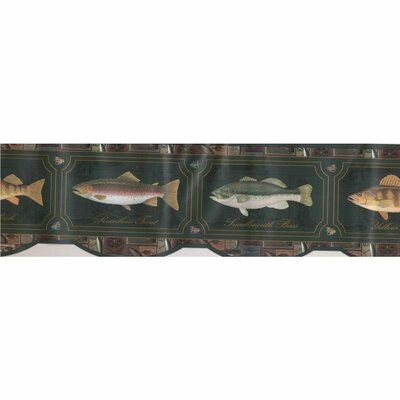 "Millwood Pines Chewelah Perch 15' L x 7"" W Wallpaper Border"