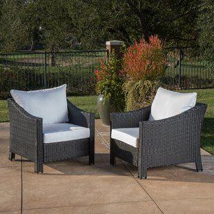 Outdoor Wicker Chairs Set Of 2 Wayfair Wicker Patio Chairs Patio Chairs Outdoor Wicker
