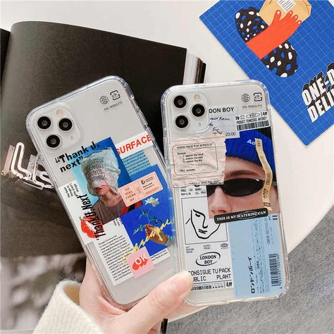 Luxury clear stamp label barcode Phone Case For iPhone 11 Pro MAX SE 2 2020 X XR XS MAX 8 7 plus Cover fashion cute soft case
