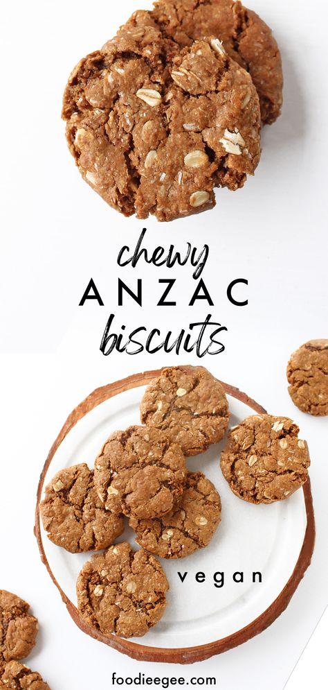 Best easy vegan Anzac biscuits chewy recipe Australia. #healthy #sugarfree #gluten free #easy #chewyanzacs #vegananzacs #glutenfreecookies #vegancookies #healthcookies #anzacbiscuits #vegananzacbiscuits #australiancookies #anzacbiscuitrecipe #australiadayrecipe #australia #softcookies #dairyfree #howtomake #foodieegee #australiaday #australianrecipes #australiancookies #oatmealcookies #oatmeal #anzacbiscuits #vegananzacbiscuits #vegancookies #healthyanzac #cookies #veganbaking #anzac #chewy