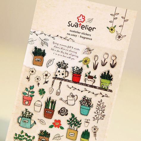 6pcs//SET Transparent Calendar Scrapbook Diary Book Decor Paper Planner Sticke Jj