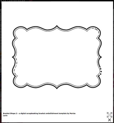 Bracket Shape- FREE Templates! Cards \ Envelopes Pinterest - labels template free