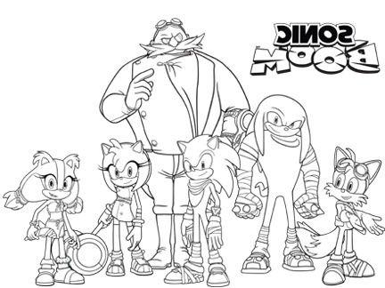 Coloriage Sonic Boom