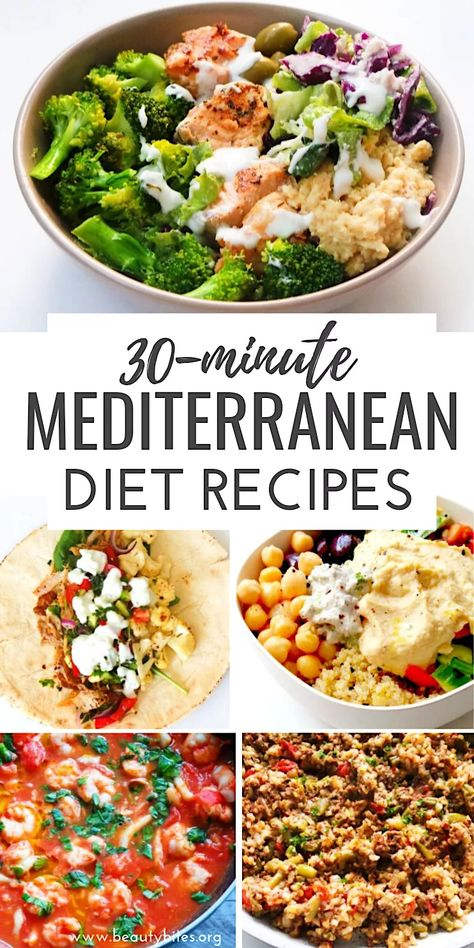 30 quick and easy Mediterranean diet recipes! This 30 minute Mediterranean … – 30 quick and easy Mediterranean diet recipes! These Mediterranean recipes that you # slimming # 30 minute Easy Mediterranean Diet Recipes, What Is Mediterranean Diet, Mediterranean Diet Breakfast, Med Diet, Diet Meal Plans, Meal Prep, Diet And Nutrition, Holistic Nutrition, Proper Nutrition