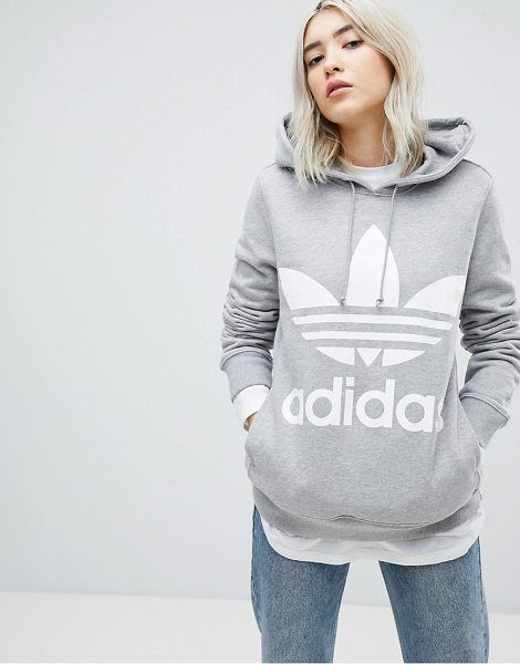 adidas Originals Adicolor Trefoil Hoodie In Gray | Buzo ...