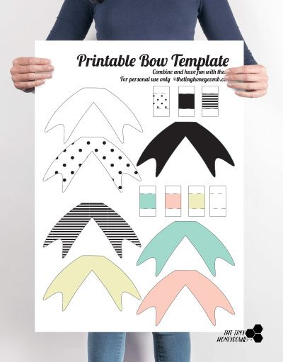 DIY Printable Paper Bow with Template Papel y Arte - bow template